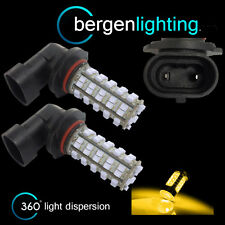 2X HB4 9006 YELLOW 60 LED FRONT FOG SPOT LAMP LIGHT BULBS CAR KIT XENON FF500901