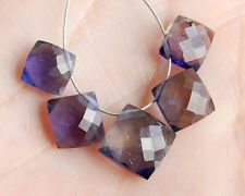 Water Sapphire Iolite Faceted Cushion Briolette Beads