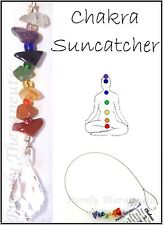 CHAKRA Suncatcher~Crystal/Gemstone for Healing~Made by Purely Therapeutic