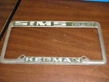 Super Rare Metal Sim Chevrolet Kerman California License Plate Frame holder tag