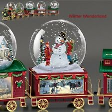Wonderland Express Snowglobe Train Set #4 Thomas Kinkade Winter Wonderland