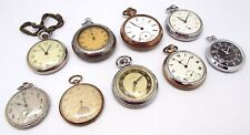 8 x Vintage SMITHS, WALTHAM, INGERSOLL etc Pocket Watches & Stopwatch, REPAIRS