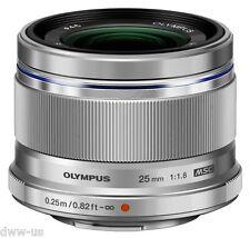 Olympus M.Zuiko PREMIUM 25mm f/1.8 Micro 4/3 Digital ED Camera Lens Silver