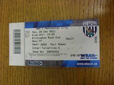 26/12/2011 BIGLIETTO: West Bromwich Albione V Manchester City (piegato / lieve marki