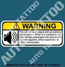 EXTREME SOUND WARNING DECAL STICKER HUMOUR HOT ROD DRIFT NOVELTY DECAL STICKERS