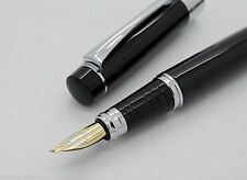 Baoer Art & Calligraphy Black Marbled Finish Golden Nib Fountain Pen