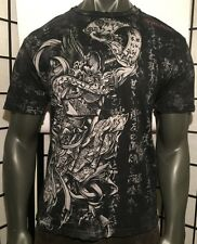 AFFLICTION MEDIUM SHIRT,JAPANESE SCROLL,IREZUMI,TATTOO,SAMURAI,HORIYOSHI