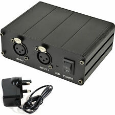 12V/48V Dual/Twin XLR Phantom Power Supply - For Condenser Microphones & Mixers