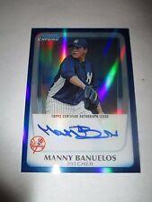 MANNY BANUELOS 2011 Bowman Chrome BLUE REFRACTOR Autograph #73/150 AUTO Braves