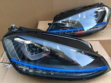 VW Golf MK7 GTE Blue Line Front LED Headlights 2012 - 2016 GTD GTI R20 UK Stock