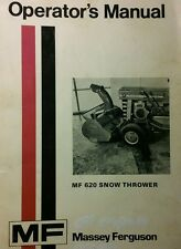 Massey Ferguson Lawn Garden Tractor 620 Snow Thrower Owners Manual 36pg MF 10 12