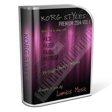 Korg Styles Premium 2014 Vol1 for Korg PA300 PA600/QT PA900 PA3X PA4X. 39 Styles