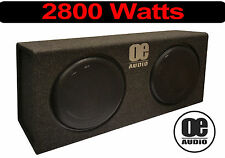 "2800 Watts Double 12"" Subwoofer built in Amplifier Active Slim Shallow bassbox"