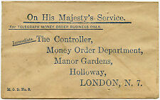 GB TELEGRAPH MONEY ORDER REPLY PAID ENVELOPE OHMS c1920