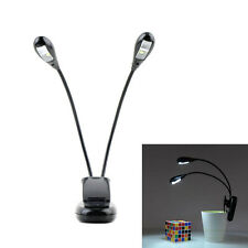 Top Sale Reading Lamp Clip-on 2 Dual Arms 4 LED Flexible Book Music Stand Light