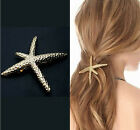 Fashion Gold Starfish metal Star spring Side clip hairpin hair Style Accessories
