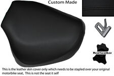 BLACK STITCH CUSTOM FITS HYOSUNG GV 125 AQUILA 01-13 FRONT LEATHER SEAT COVER