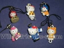Hello Kitty Cats Figure Cell Phone Charm Strap Ornament Pendant Decoration 6pc A