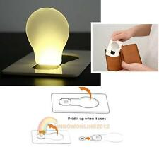 Portable LED Credit Card Size Pocket Light Bulb Lamp Wallet Night Camping Hiking