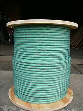"Super Low Stretch Spectra Sailboat Rigging Rope Line 5/16"" x 100' Green/Silver"