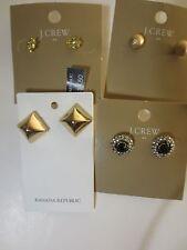 J.Crew Banana Republic Stud Earings B0380 B0379 03044 NWT $22.50 39.50 set of 4