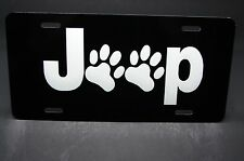 JEEP   ANIMAL FRIEND METAL LICENSE PLATE TAG FOR CARS PAWS DOGS CATS ANIMAL LOVE
