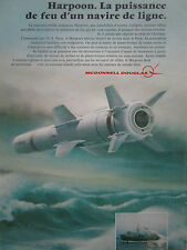 12/76 PUB MCDONNELL DOUGLAS HARPOON ANTISHIP MISSILE US NAVY HYDROFOIL FRENCH AD