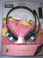 Sweex HM156  Neckband Over-The-Ear PC Headset Pitaya Pink