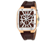 CERRUTI 1881 SWISS CHRONOGRAPH MENS DESIGNER WATCH GOLD LEATHER STRAP LUXURY