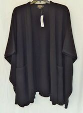 NWT Women's Pendleton Lambs Wool Cape One Size Black $199 New With Tags