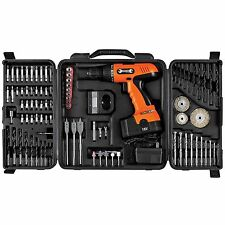 18V Cordless Drill with Bits and Case and Accessories Keyless Chuck