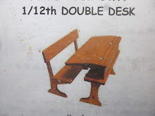 1/12 scale Dolls House Kit Furniture   Double School desk  Kit    Mc69