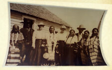 HARMAN PERCY MARBLE ORIGINAL PHOTOGRAPH OF THE SIOUX TRIBE CIRCA 1910