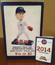 CHICAGO CUBS KERRY WOOD STADIUM GIVEAWAY BOBBLEHEAD! 8/22/14 NEW IN BOX! MINT!