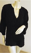 NWT,BLACK,  cheese cloth top with embroidery for cruising,beach & leisure S18