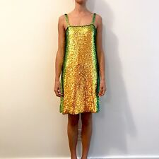 NWT Alessandro Rare Gucci Runway Sequin Beaded New Years Dress, Sz 40, $8500