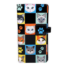 Cat Checkers - Large Zipper Wallet  - Shagwear - New