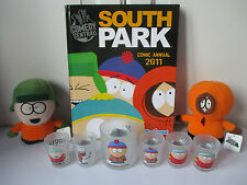 Kenny Soft Toy Kyle South Park Tumbler Glass Shot Glasses x5 HB Annual 2011 VGC