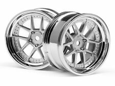 #111276  DY-CHAMPION 26mm WHEEL (CHROME/SILVER/6mm OS/2pcs) (Traxxas Associated)