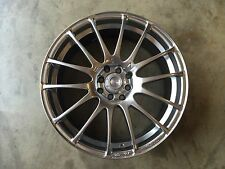 "18"" SPEEDY Wheels Lite Fin Hyper Black 18x7.5 4lug 8hole 4X100 & 4x114 et 45"