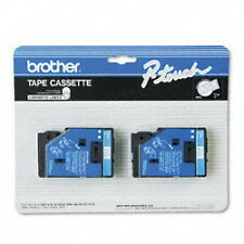 "Brother 1/2"" (12mm) Blue on White P-touch Tape for PT150, PT-150 Label Maker"