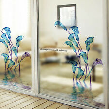 Removable Window Fridge Decal Flower Wall Glass Sticker Vinyl Art Home DIY Decor