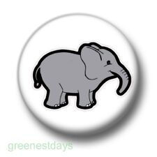 Elephant 1 Inch / 25mm Pin Button Badge Cute Cartoon Elephants Trunk Animals Fun