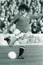 MICKEY THOMAS Signed 12x8 Photo MANCHESTER UNITED And WALES COA