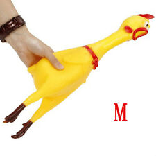 32CM Screaming Rubber Chicken Squeaky Pets Bulk Tough Dogs Chew Treat Toys Gift