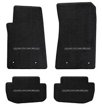 NEW! BLACK FLOOR MATS 2014-2015 Camaro Embroidered Logo in Black Letters on All