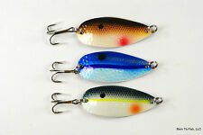 Lot of 3 Shad Spoon Fishing Lure Pike Trout Bass Salmon