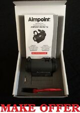 NEW 2017 Batch Aimpoint T-2 T2 2MOA NV Red Dot Sight with Standard Mount 200170