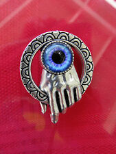 Victorian/ STEAMPUNK SP Hand of the King PIN TIE TAC W/Dragon  EYE CHARM