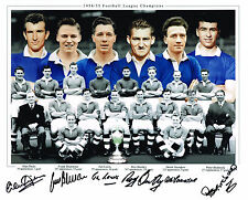 ICONIC CHELSEA 1955 LEAGUE CHAMPIONS HAND SIGNED LARGE PHOTO AUTOGRAPH BENTLEY